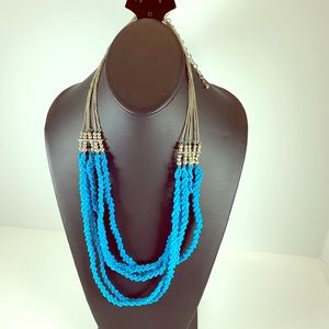 Jewelry - 5/$25 Turquoise Beaded Chunky Statement Necklace